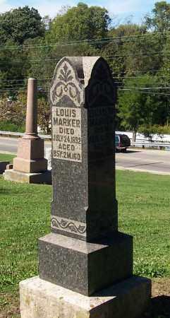 MARKER, LOUIS - Preble County, Ohio | LOUIS MARKER - Ohio Gravestone Photos
