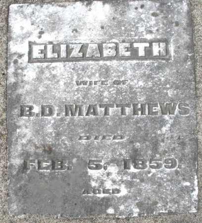 MATTHEWS, ELIZABETH - Preble County, Ohio | ELIZABETH MATTHEWS - Ohio Gravestone Photos