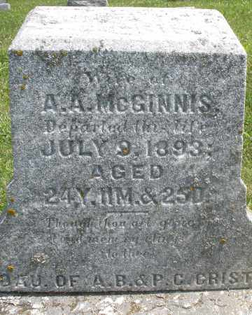 MCGINNIS, WIFE - Preble County, Ohio | WIFE MCGINNIS - Ohio Gravestone Photos