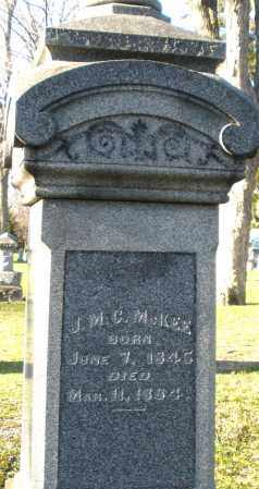 MCKEE, J.M.C. - Preble County, Ohio | J.M.C. MCKEE - Ohio Gravestone Photos