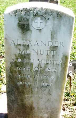 MCNUTT, ALEXANDER - Preble County, Ohio | ALEXANDER MCNUTT - Ohio Gravestone Photos
