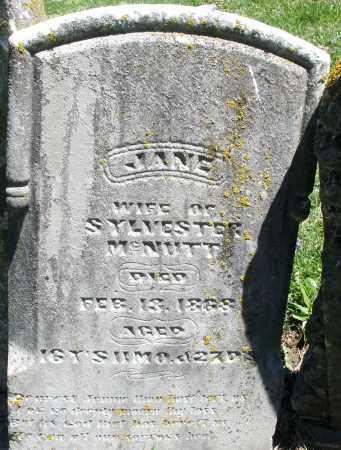 MCNUTT, JANE - Preble County, Ohio   JANE MCNUTT - Ohio Gravestone Photos