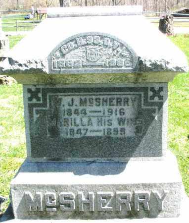 MCSHERRY, M.J. - Preble County, Ohio | M.J. MCSHERRY - Ohio Gravestone Photos