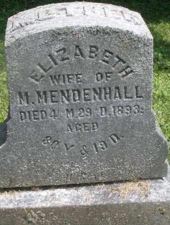 MENDENHALL, ELIZABETH - Preble County, Ohio | ELIZABETH MENDENHALL - Ohio Gravestone Photos