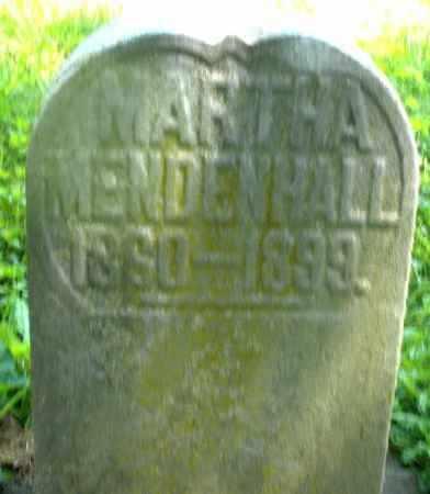 MENDENHALL, MARTHA - Preble County, Ohio | MARTHA MENDENHALL - Ohio Gravestone Photos
