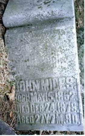 MILES, JOHN - Preble County, Ohio | JOHN MILES - Ohio Gravestone Photos