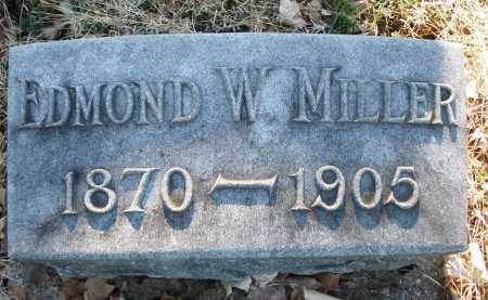 MILLER, EDMOND W. - Preble County, Ohio | EDMOND W. MILLER - Ohio Gravestone Photos
