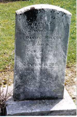 MILLER, HANNAH - Preble County, Ohio | HANNAH MILLER - Ohio Gravestone Photos