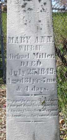 MILLER, MARY ANN - Preble County, Ohio   MARY ANN MILLER - Ohio Gravestone Photos