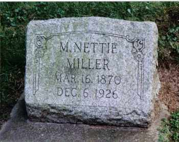 MILLER, M. NETTIE - Preble County, Ohio | M. NETTIE MILLER - Ohio Gravestone Photos
