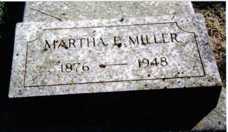 MILLER, MARTHA E. - Preble County, Ohio   MARTHA E. MILLER - Ohio Gravestone Photos