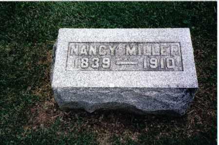 MILLER, NANCY - Preble County, Ohio | NANCY MILLER - Ohio Gravestone Photos