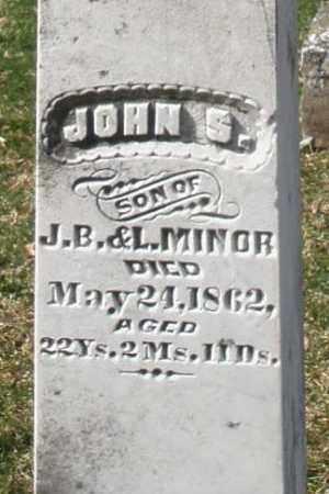MINOR, JOHN S. - Preble County, Ohio | JOHN S. MINOR - Ohio Gravestone Photos