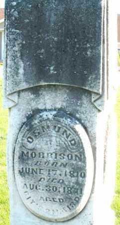 MORRISON, OSMUND - Preble County, Ohio | OSMUND MORRISON - Ohio Gravestone Photos
