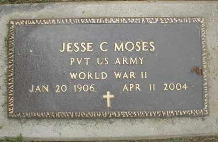 MOSES, JESSE C. - Preble County, Ohio   JESSE C. MOSES - Ohio Gravestone Photos