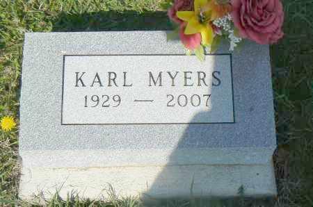 MYERS, KARL - Preble County, Ohio | KARL MYERS - Ohio Gravestone Photos