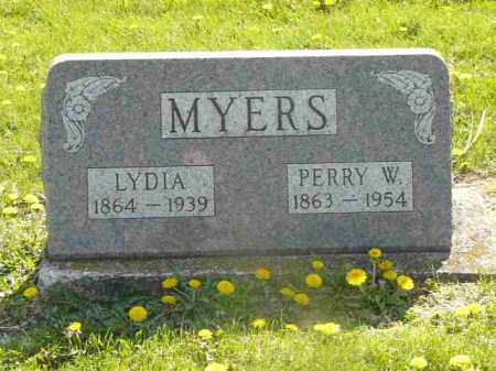 MYERS, PERRY AND LYDIA - Preble County, Ohio | PERRY AND LYDIA MYERS - Ohio Gravestone Photos