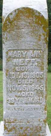 NEFF, MARY ANN - Preble County, Ohio | MARY ANN NEFF - Ohio Gravestone Photos