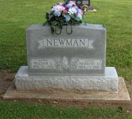 NEWMAN, HERBERT D - Preble County, Ohio | HERBERT D NEWMAN - Ohio Gravestone Photos