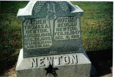 NEWTON, THOMAS A. - Preble County, Ohio | THOMAS A. NEWTON - Ohio Gravestone Photos