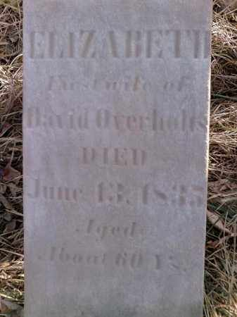 KAILER OVERHOLTS, ELIZABETH - Preble County, Ohio | ELIZABETH KAILER OVERHOLTS - Ohio Gravestone Photos
