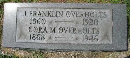 OVERHOLTS, J. FRANKLIN - Preble County, Ohio | J. FRANKLIN OVERHOLTS - Ohio Gravestone Photos