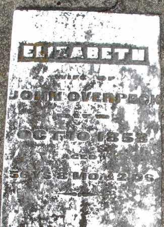 OVERPECK, ELIZABETH - Preble County, Ohio | ELIZABETH OVERPECK - Ohio Gravestone Photos
