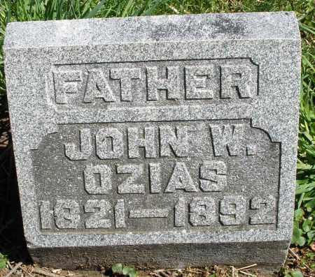 OZIAS, JOHN W. - Preble County, Ohio | JOHN W. OZIAS - Ohio Gravestone Photos