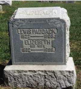 PADDACK, ELIZEBETH - Preble County, Ohio | ELIZEBETH PADDACK - Ohio Gravestone Photos