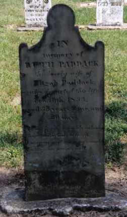 PADDACK, RUTH - Preble County, Ohio | RUTH PADDACK - Ohio Gravestone Photos