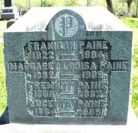 PAINE, MARGARET LOUISA - Preble County, Ohio | MARGARET LOUISA PAINE - Ohio Gravestone Photos