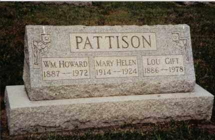 PATTISON, WILLIAM HOWARD - Preble County, Ohio | WILLIAM HOWARD PATTISON - Ohio Gravestone Photos