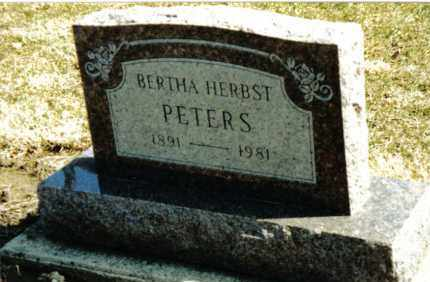 PETERS, BERTHA - Preble County, Ohio | BERTHA PETERS - Ohio Gravestone Photos