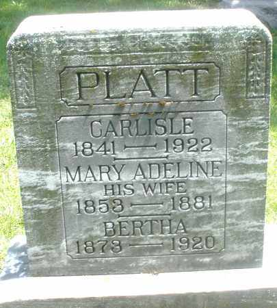PLATT, BERTHA - Preble County, Ohio | BERTHA PLATT - Ohio Gravestone Photos