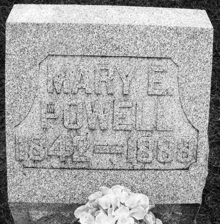 POWELL, MARY E. - Preble County, Ohio   MARY E. POWELL - Ohio Gravestone Photos