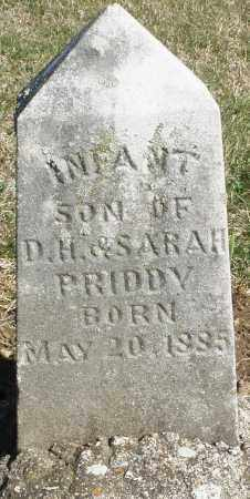PRIDDY, INFANT SON - Preble County, Ohio | INFANT SON PRIDDY - Ohio Gravestone Photos