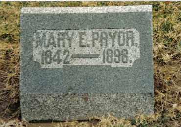 STRAW PRYOR, MARY E. - Preble County, Ohio | MARY E. STRAW PRYOR - Ohio Gravestone Photos