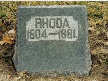 PRYOR, RHODA - Preble County, Ohio   RHODA PRYOR - Ohio Gravestone Photos