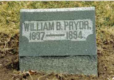 PRYOR, WILLIAM B. - Preble County, Ohio | WILLIAM B. PRYOR - Ohio Gravestone Photos