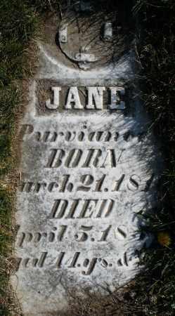 PURVIANCE, JANE - Preble County, Ohio | JANE PURVIANCE - Ohio Gravestone Photos