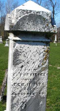 PURVIANCE, MARY - Preble County, Ohio | MARY PURVIANCE - Ohio Gravestone Photos