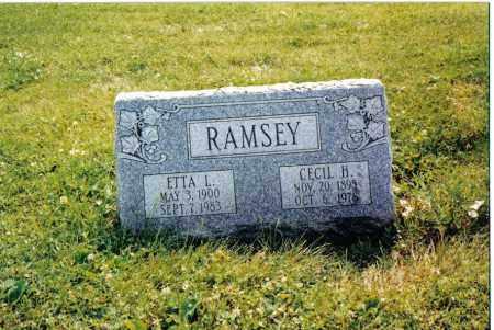 RAMSEY, ETTA L. - Preble County, Ohio   ETTA L. RAMSEY - Ohio Gravestone Photos