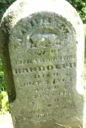 RANDOLPH, JOHN M. - Preble County, Ohio | JOHN M. RANDOLPH - Ohio Gravestone Photos