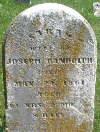RANDOLPH, SARAH - Preble County, Ohio   SARAH RANDOLPH - Ohio Gravestone Photos