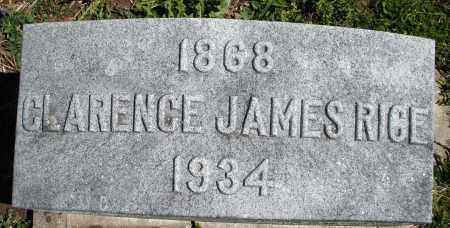 RICE, CLARENCE JAMES - Preble County, Ohio | CLARENCE JAMES RICE - Ohio Gravestone Photos
