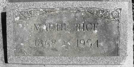 RICE, MAUDE - Preble County, Ohio   MAUDE RICE - Ohio Gravestone Photos