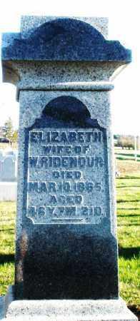 RIDENOUR, ELIZABETH - Preble County, Ohio | ELIZABETH RIDENOUR - Ohio Gravestone Photos