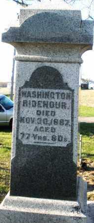 RIDENOUR, WASHINGTON - Preble County, Ohio | WASHINGTON RIDENOUR - Ohio Gravestone Photos
