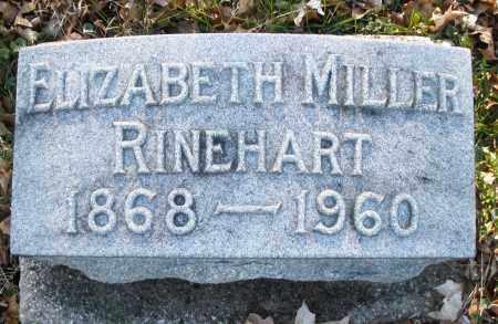 MILLER RINEHART, ELIZABETH - Preble County, Ohio   ELIZABETH MILLER RINEHART - Ohio Gravestone Photos