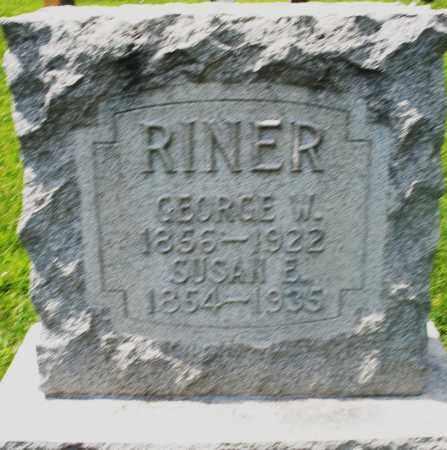 RINER, SUSAN E. - Preble County, Ohio   SUSAN E. RINER - Ohio Gravestone Photos